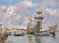 Venice, The Grand Canal painting reproduction, Eugene-Louis Boudin