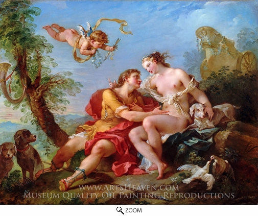 Charles Joseph Natoire, Venus and Adonis oil painting reproduction