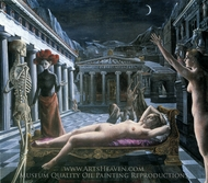 Venus Asleep painting reproduction, Paul Delvaux