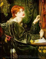 Veronica Veronese painting reproduction, Dante Gabriel Rossetti