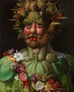 Vertumnus painting reproduction, Giuseppe Arcimboldo
