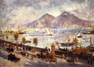 Vesuvius in the Morning painting reproduction, Pierre-Auguste Renoir