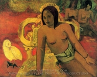 Viaraumati Tei Oa (Her Name is Viaraumati) painting reproduction, Paul Gauguin