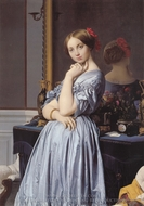 Vicomtess Othenin d'Haussonville painting reproduction, Jean Auguste Dominique Ingres