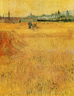 View from the Wheatfield, Arles painting reproduction, Vincent Van Gogh