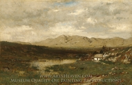View in County Kerry painting reproduction, Alexander Helwig Wyant