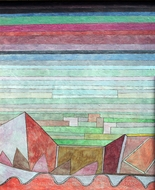 View into the Fertile Country painting reproduction, Paul Klee
