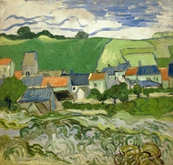 View of Auvers painting reproduction, Vincent Van Gogh