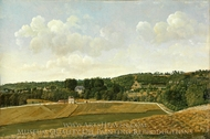 View of Chatenay painting reproduction, Achille-Etna Michallon