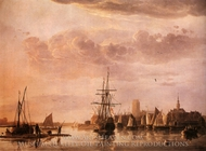 View of Dordrecht painting reproduction, Aelbert Cuyp