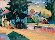 View of Murnau painting reproduction, Wassily Kandinsky