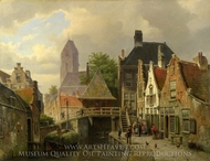 View of Oudewater painting reproduction, Willem Koekkoek