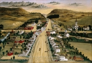 View of Poestenkill, New York painting reproduction, Joseph H. Hidley