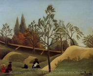 View of the Fortifications painting reproduction, Henri Rousseau
