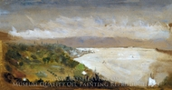 View of the Hudson River from the Catskills painting reproduction, Stanford White