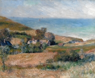 View of the Seacoast near Wargemont in Normandy painting reproduction, Pierre-Auguste Renoir