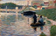 View of the Seine painting reproduction, Georges Seurat