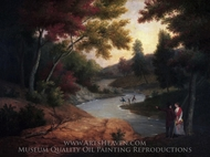 View of the Wissahickon Creek with Figures painting reproduction, James Peale