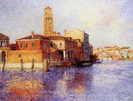 View of Venice (Murano) painting reproduction, Ferdinand Du Puigaudeau