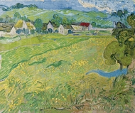 View of Vessenots Near Auvers painting reproduction, Vincent Van Gogh