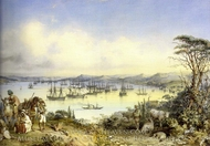 View to the Bay painting reproduction, Amedeo Preziosi