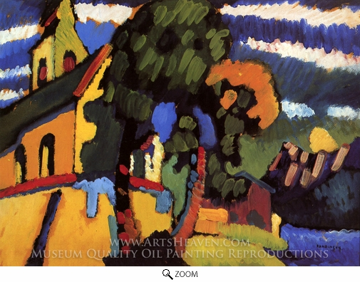 Wassily Kandinsky, Village Church oil painting reproduction