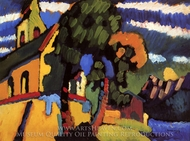 Village Church painting reproduction, Wassily Kandinsky