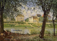 Village on the Banks of the Seine painting reproduction, Alfred Sisley