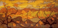 Vines painting reproduction, Paul Ranson