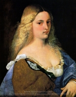 Violante painting reproduction, Titian