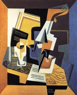 Violin and Glass painting reproduction, Juan Gris