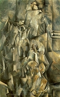 Violin and Pitcher painting reproduction, Georges Braque