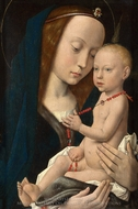 Virgin and Child painting reproduction, Hugo Van Der Goes