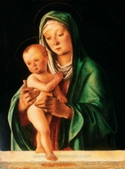 Virgin and Child painting reproduction, Lorenzo Costa
