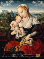 Virgin and Child painting reproduction, Joos Van Cleve