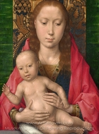 Virgin and Child painting reproduction, Hans Memling