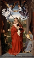 Virgin and Child with Four Angels painting reproduction, Gerard David