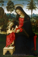 Virgin Teaching Jesus to Read painting reproduction, Bernardino di Betto