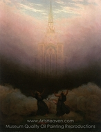 Visitor of Christian Church painting reproduction, Caspar David Friedrich