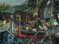 Volga Song painting reproduction, Wassily Kandinsky