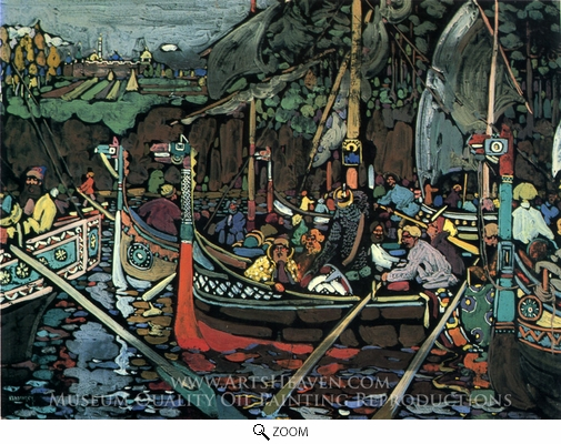Wassily Kandinsky, Volga Song oil painting reproduction