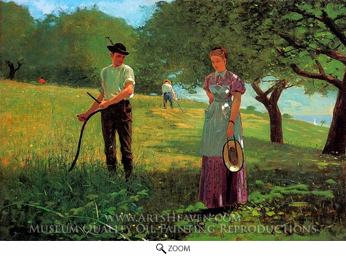 Winslow Homer, Waiting for an Answer oil painting reproduction