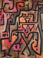 Wald-Hexen painting reproduction, Paul Klee