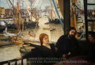Wapping on Thames painting reproduction, James McNeill Whistler