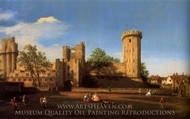 Warwick Castle: the East Front painting reproduction, Canaletto