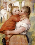 Washerwoman and Baby (Aline and Pierre) painting reproduction, Pierre-Auguste Renoir