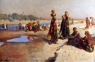 Water Carriers of the Ganges painting reproduction, Edwin Lord Weeks