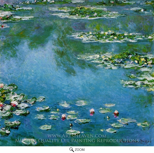 Claude Monet, Water Lilies 1906 oil painting reproduction