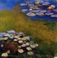 Water Lilies 1914-17 painting reproduction, Claude Monet