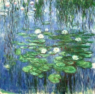 Water Lilies 1914-19 painting reproduction, Claude Monet